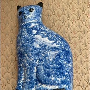 Cute ceramic cat figurine